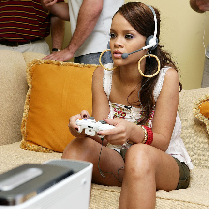 Obese Children Playing Video Games