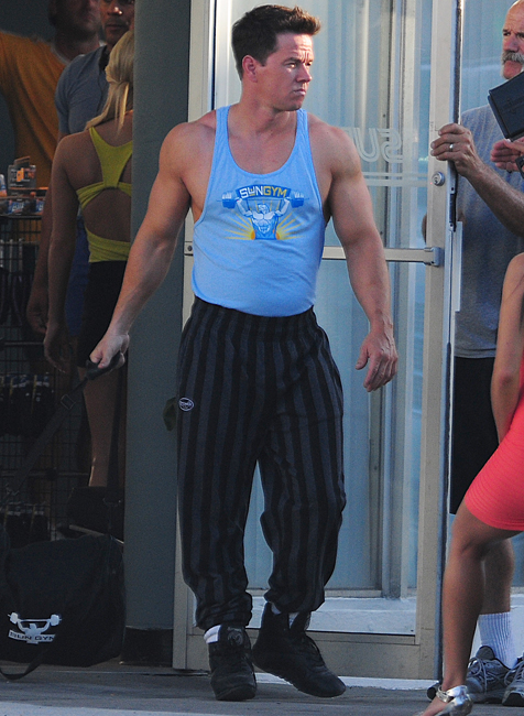 Mark Wahlberg Showing Off Body With Blue Shirt. | Fried Junk! Zac Efron Details Photoshoot