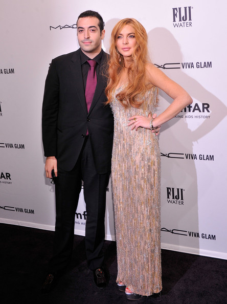 2013-amFar-New-York-Fashion-Week-Gala-Lindsay-Lohan-and-Mohammed-Alturki-2